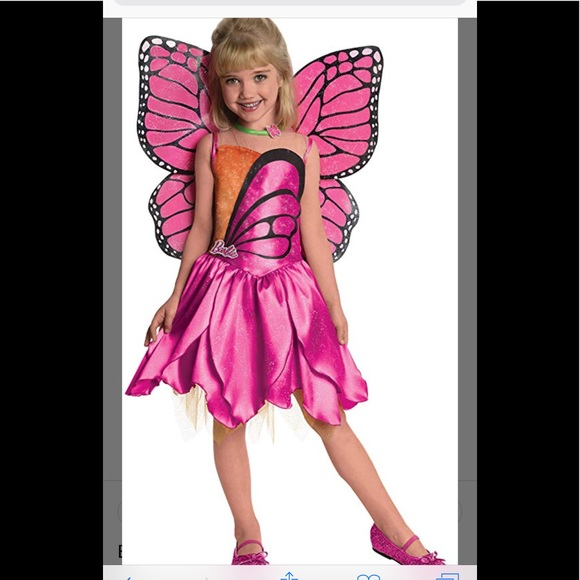 467c998332c NWT Barbie Mariposa Dress Up Costume